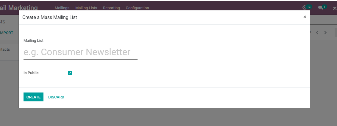 Email Marketing Odoo